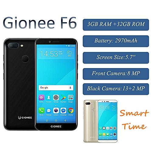 F6 5 7-inch (3GB, 32GB ROM) Android 7 1 Nougat, (13MP + 2MP) + 8MP, Dual  Sim 4G LTE Smartphone - Black