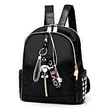 1538553a258 Female Student Backpack Waterproof Oxford Cloth Leisure Female Rivet Bag  Pendant Zipper