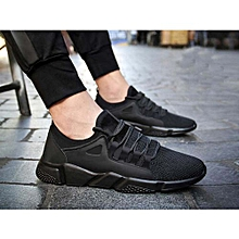 2fcae6a6ad60 Men Running Breathable Light Sport Sneakers - Black