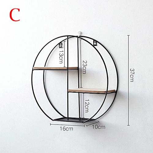 Wall Mounted Storage Rack Shelf Solid Wood Display Decorative Frame Home Decor