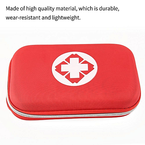 Red Home Outdoor Travelling First Aid Bag Emergency Medical Storage Box Case