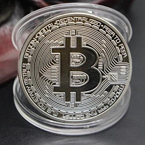 Bitcoin Memorial Circular Collector Coin-SILVER