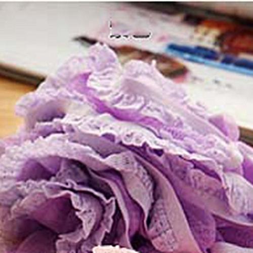 Lace Edge Bath Ball Skin Towel Scrubber Body Cleaning Bathroom Accessories Purple
