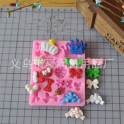 Crown Butterfly Silicone Mould Fondant Cake Chocolate DIY Baking Tools