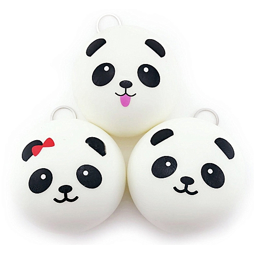 Householding Supplies 1PCS Cute 10cm Panda Buns Bread Charms Key/Bag/Cell Phone Straps - White