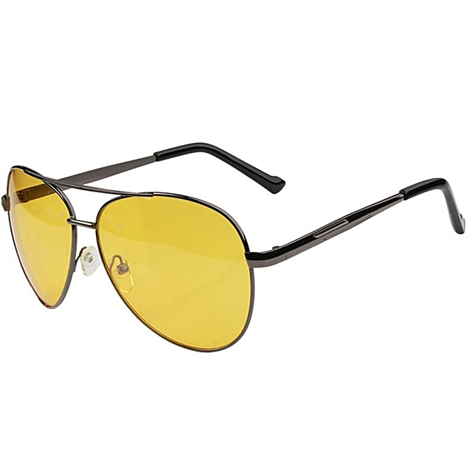 a3acafff04a Uvlaik Night Vision Glasses Men Driving Yellow Lens Sunglasses Classic Anti  Glare Vision Driver Safety Glasses