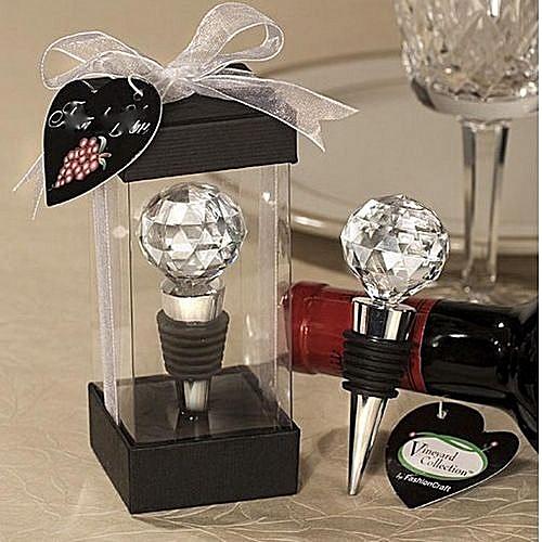Hot Sale New Gift CRYSTAL ELEGANT RED WINE BOTTLE STOPPER PRESERVER REUSABLE VACUUM SEALED GIFT
