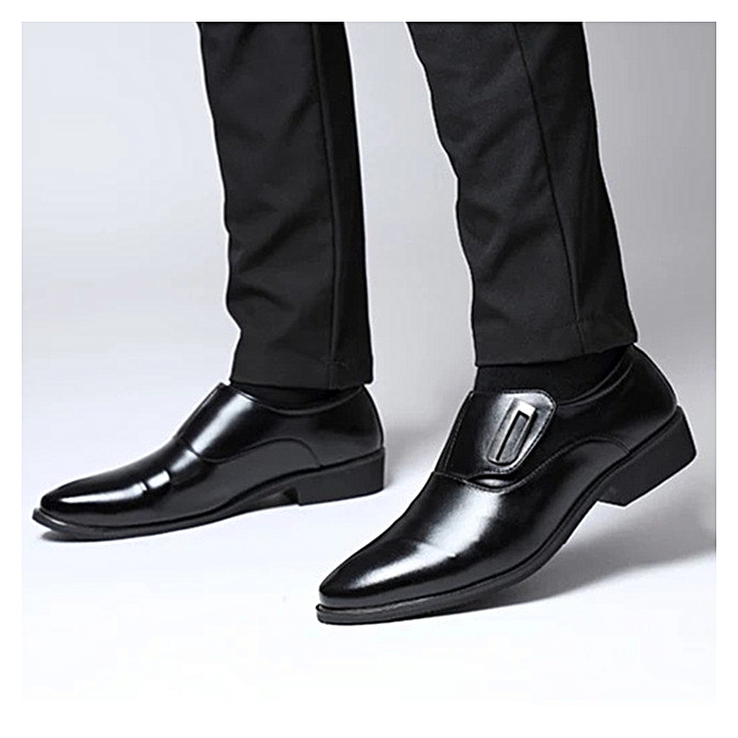 dd59fd463e GENERAL Men Loafer Shoes PU Leather Formal Dress Shoes Business Shoe ...