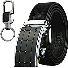 2f927780f525 Designer Automatic Buckle Belt - Black