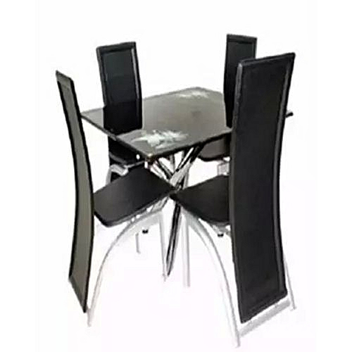 Dinning Table And Chair Set - Black (Lagos Delivery Only)