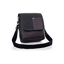 fb9bffe884 Pu Leather Men Bag Fashion Men Messenger Bag Small Business Crossbody Shoulder  Bags ( Black )