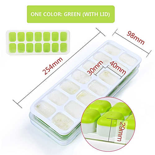 DIY Creative Silicone Ice Mold With Lid Ice Tray Fruit Ice Cube Maker Bar Kitchen Accessories