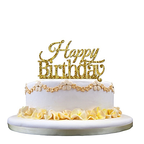 Fashion Birthday Cake Topper Happy Candle Party Supplies Decorations A