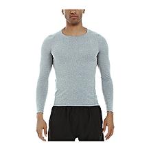 9bc420f3f764b Men's Quick Dry Long Sleeve T-Shirt Running Fitness Shirts Workout