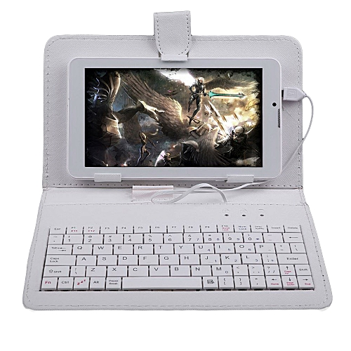 Tablet Cover Tablet Case Slim 10.1 Inch With Keyboard Micro USB Premium Stand Folding