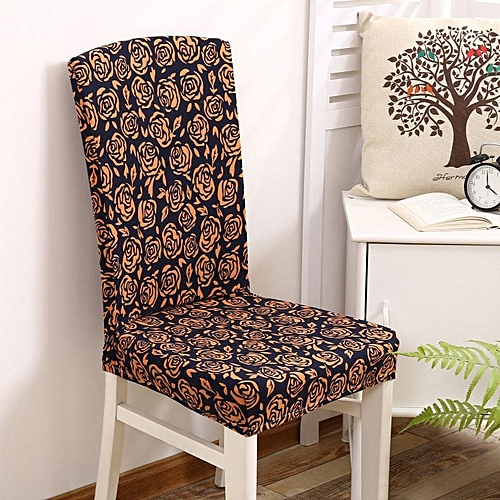 KCASA WX-PP7 Removable Elegant Flower Elastic Stretch Chair Seat Cover Dining Home Hotel Wedding Decor