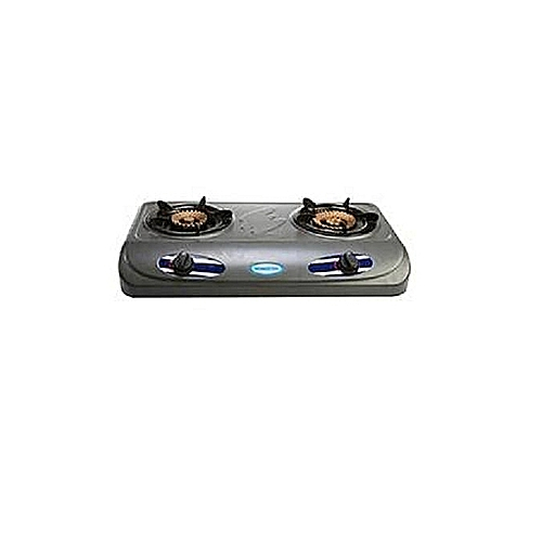 Table Top Gas Cooker-2 Hob Double Burner- Grey
