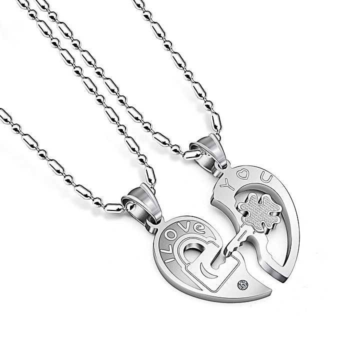 Buy generic best couple chain necklaces pendant lover valentines best couple chain necklaces pendant lover valentines gift 1pair mozeypictures Image collections