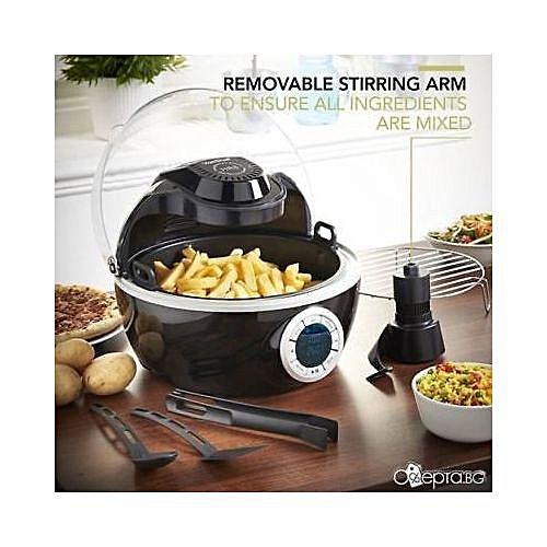 Digital Air Fryer Steam Grill Low Fat 1230W Black - Accessories