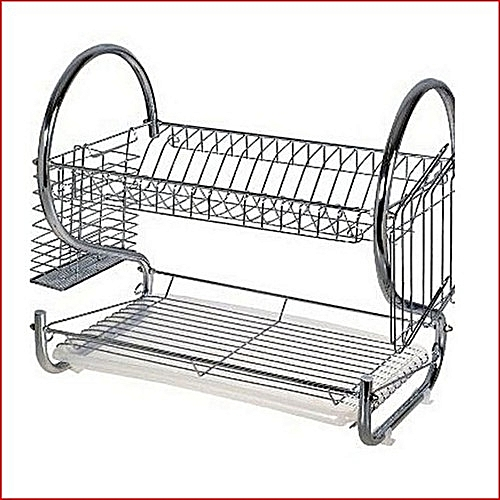 2 Tier Stainless Plate Rack