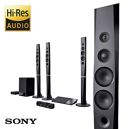 1200W 3D Blue-Ray All In One Home Cinema Sound System With Bluetooth, Wifi, NFC And Wireless Rear Speakers. BDV-N9200W