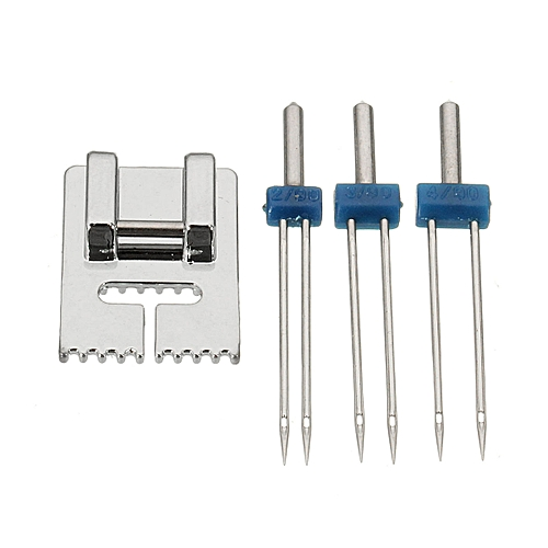 Groove Pintuck Foot With 3 Sizes Double Twin Needles Pin For Brother Sewing