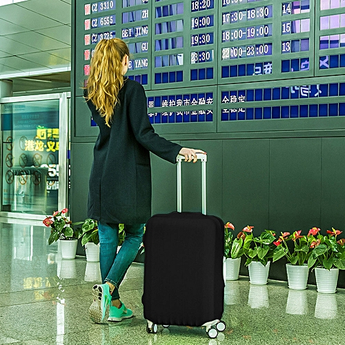 18-20 Inches Travel Luggage Cover Protector Elastic Suitcase Dustproof Bag Black