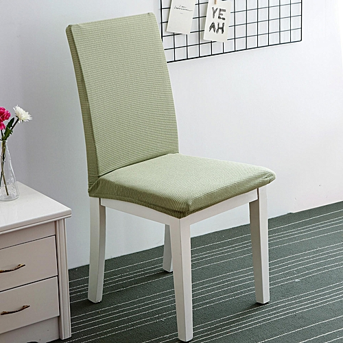 Knitted Computer Chair Cover Siamese Office Chair Cover Simple Dining Chair Cover Stool Cover Back Cover Hotel Chair Cover # Mint Green