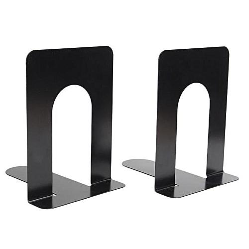 Metal Bookends 15*13*17 Cm - Black