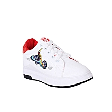 5f2c5f65daec7 Eagleheight Ladies Sneakers - White And Red