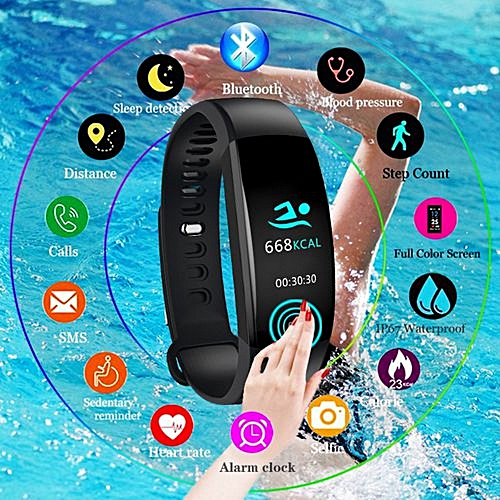Smart Bracelet Fitness Tracker Heart Rate Monitor Waterproof Smart Watch