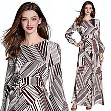 b672da11b68 National Gown Long Sleeve Large Size Printed Dress