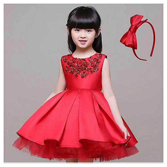 3da46c72d50bb Fashion Kids Girl Dress Flower Students Party Gown | Jumia NG