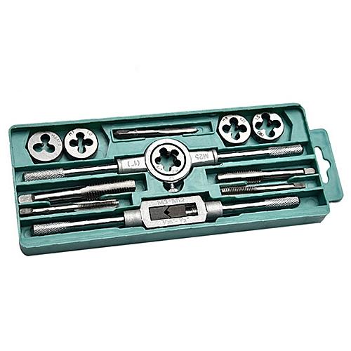 Metric Wringer Tool Screw Thread Wrench Tap Die 12pcs - Gray