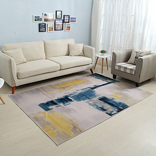 Bedroom Floor Mat Color Block Chic Non-Slip Carpet