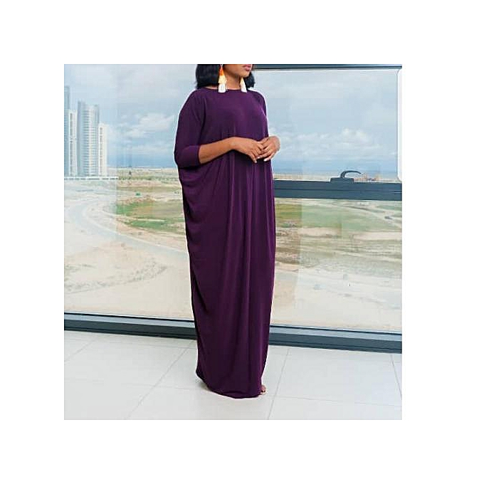 Fashion Women Beautiful Abaya Gown - Purple