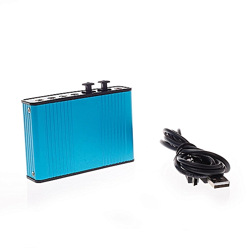 Fiber Sound Card, With USB Cable Blue