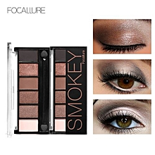 6 Colors Eyeshadow Palette Glamorous Smokey Eye Shadow Shimmer Colors Makeup Kit