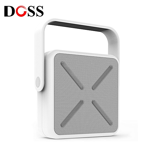 DOSS DS - 2022 Outdoor Portable Wireless Bluetooth Stereo Speaker Mini Player-WHITE