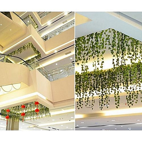 2m Artificial Ivy Sweet Potato Green Leaves Garland