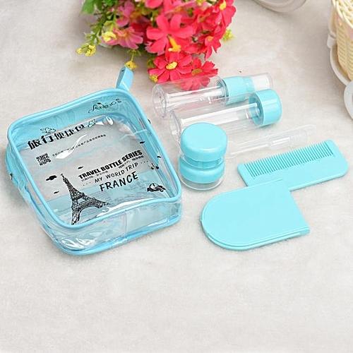 Mini 8PCS Travel Camping Perfume Lotion Cream Empty Bottle Sample Holder Blue