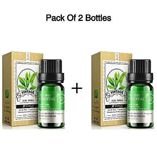 Bioaqua Brand Natural Tea Tree Oils Moisturizer Face Body: BioAQUA Pure Tea Tree Essential Oil - 2 Bottles