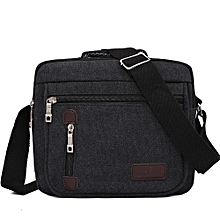 Zetenis Men Bag Vintage Business Messenger Bags Shoulder Crossbody Bag Men Male Bag BK -Black