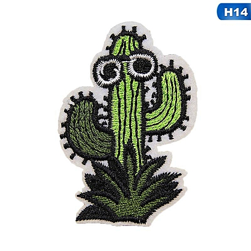 Eleganya Creativity Lovely Embroidery Plant Clothing Shoes Simple Cloth Stickers H14
