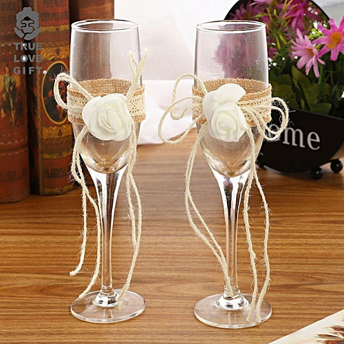 2Pcs Personalized Wedding Red Wine Champagne Goblet Cup