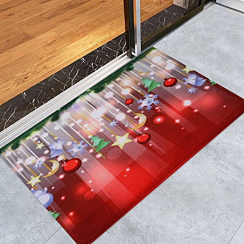 Christmas Baubles Stars Pattern Water Absorption Area Rug