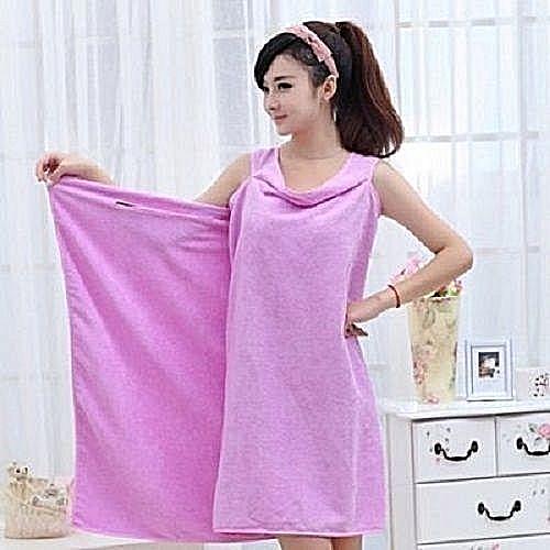 2a21d32ca2 Generic Female Bath Robe   Body Wrap Towel - Purple