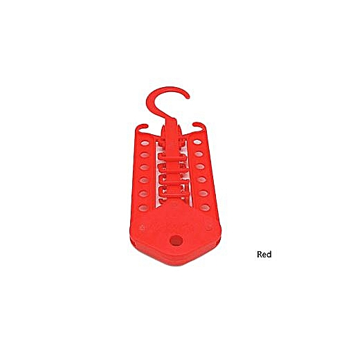 Hanger Rack Space Saver Folding Multifunctional Magic Clothes -Red