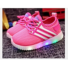 fd7b454af Fashion Kids Mesh Breathable Colorful LED Light Up Shoes Girls Kid Luminous  Sneakers