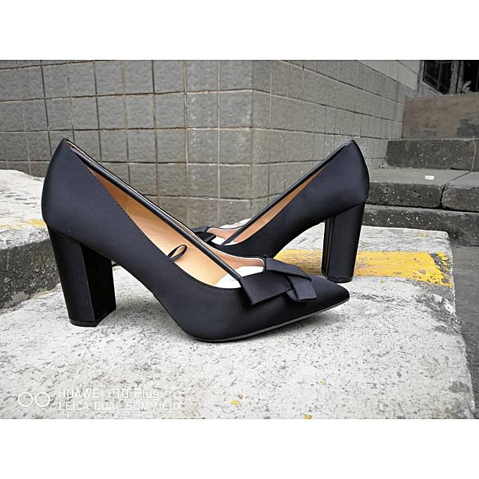 959dc5d7aa8 Fashion Ladies Black Satin Cover Shoe